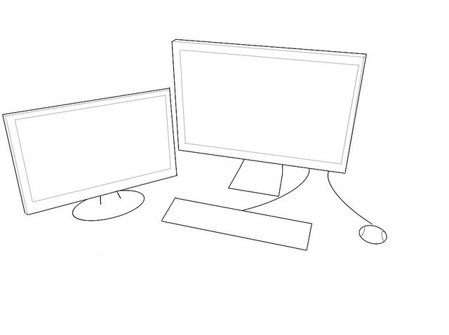 computer outline drawing   AJN News