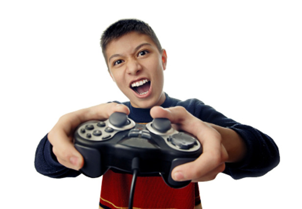 Children Playing Video Games With Violence