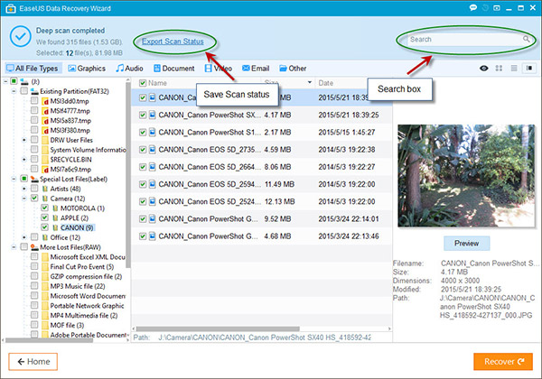 Recover Data Using EaseUS Data Recovery Wizard